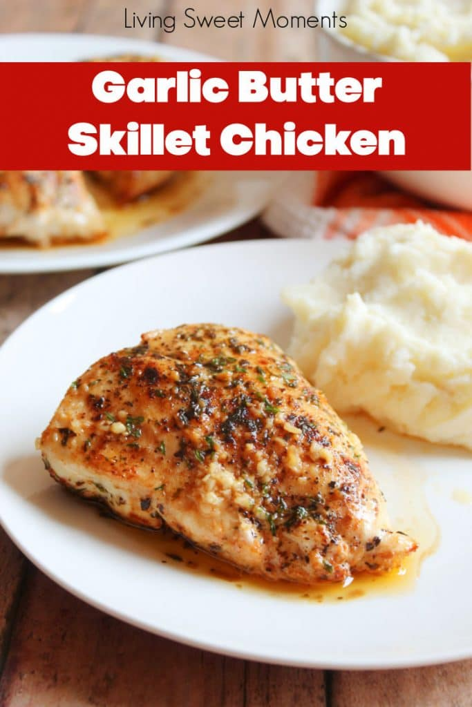 Get dinner on the table in 30 minutes or less with this delicious Garlic Butter Skillet Chicken. Easy to make and family friendly.