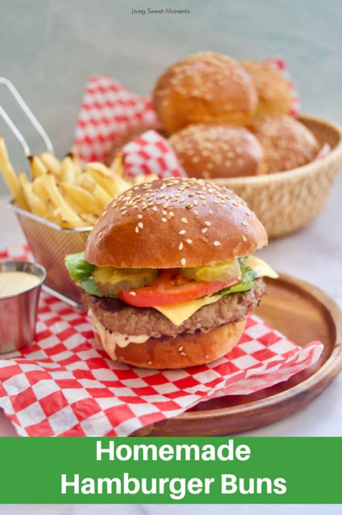 Take your burger game to a whole new level with homemade hamburger buns plus check out how to make the most delicious sauce on top